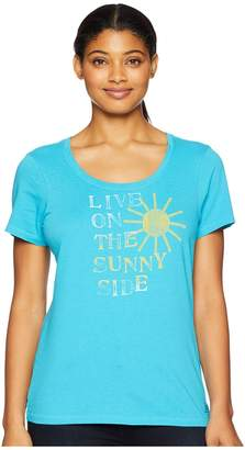 Life is Good Live On the Sunny Side Crusher Scoop Neck T-Shirt Women's T Shirt