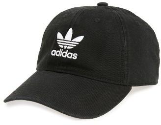 Men's Adidas Originals Relaxed Baseball Cap - Black $24 thestylecure.com
