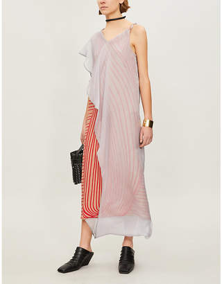 Chalayan Layered silk-crepe midi dress