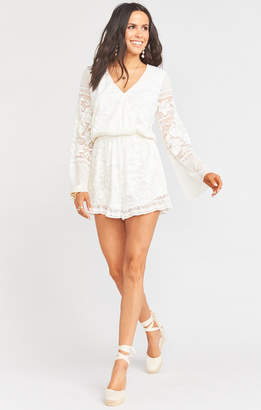 Show Me Your Mumu Loretta Romper ~ Moonlight Roses Lace Cream