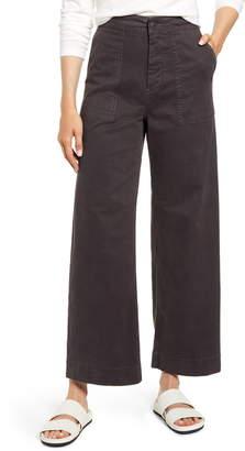 Lou & Grey High Waist Wide Leg Brushed Twill Pants