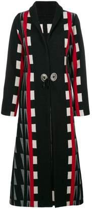 Jessie Western geometric tied long coat