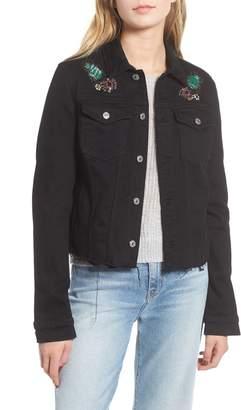 7 For All Mankind Embellished Denim Jacket