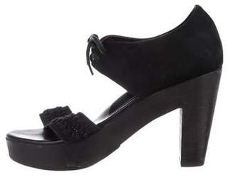 Rachel Comey Suede Ankle Strap Sandals