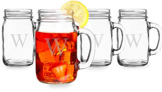 Cathy's Concepts Cathys Concepts Set Of Four Personalized Old Fashioned Drinking Jars