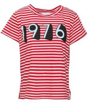 Current/Elliott Printed Striped Cotton-jersey T-shirt