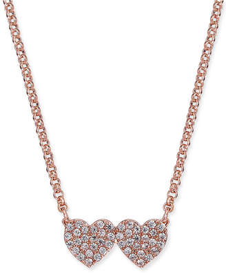 Kate Spade Pavé Double-Heart Pendant Necklace