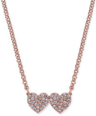 Kate Spade Pave Double-Heart Pendant Necklace