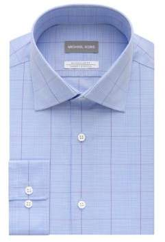 Michael Kors Airsoft Stretch Exploded Check Dress Shirt
