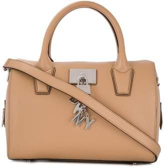 DKNY padlock detail tote bag