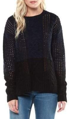 Dex Colourblock Cable-Knit Sweater