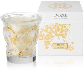 Lalique Oceans Crystal Scented Candle Gold Edition