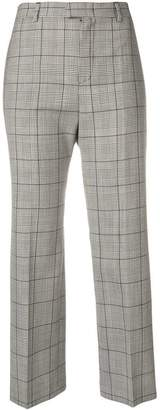 RED Valentino Prince of Wales check cropped trousers