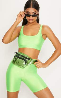 PrettyLittleThing Yellow Neon Square Neck Crop