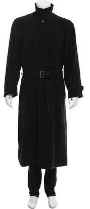 Giorgio Armani Polyester Trench Coat