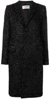 Saint Laurent textured single breasted coat