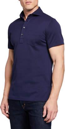 Ralph Lauren Men's Pique Pocket Polo Shirt, Navy