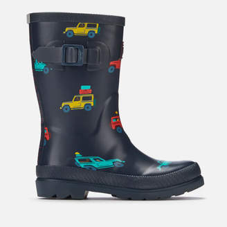 Joules Kids' Premium Bow Back Wellies - Navy Scout and About