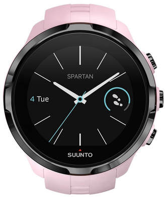 Suunto Spartan Sport Dark Pink Wrist Hr, Pink Silicone Band with a Digital Dial