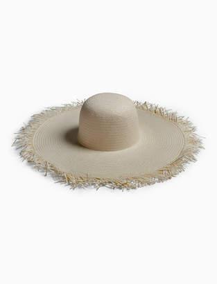 Lucky Brand FRAYED STRAW HAT