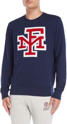 Franklin & Marshall Navy Varsity Logo Sweatshirt