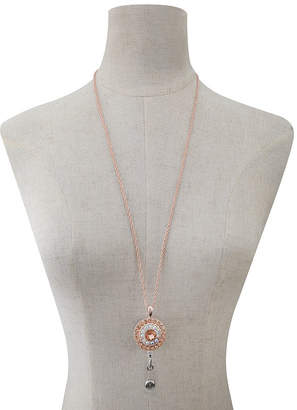 MONET JEWELRY Monet Jewelry Id Clip Womens Pink Pendant Necklace