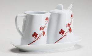 Marla Dawn: Two for Two Sugar & Creamer Set Dogwood Blossom