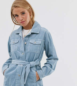 Urban Bliss cord jacket with belt detail