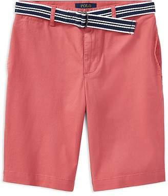 Polo Ralph Lauren Boys' Slim-Fit Stretch Shorts with Belt - Big Kid