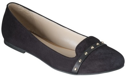 Mossimo Women's Voneta Studded Smoker Flat - Black