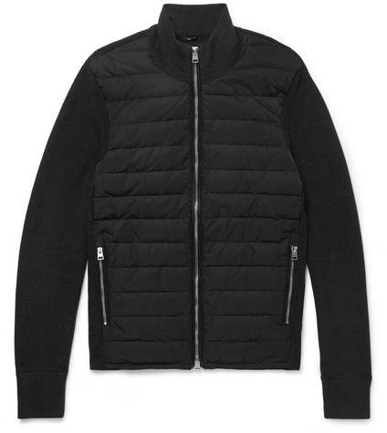 TOM FORD Slim-Fit Ribbed Merino Wool And Quilted Shell Down Jacket