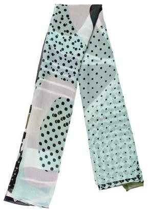 Diane von Furstenberg Silk & Cotton-Blend Printed Scarf