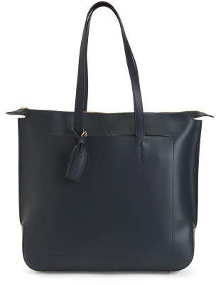 Made In Italy Vachetta Leather Tote