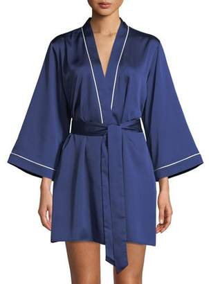 Kate Spade Cat Nap Charmeuse Short Robe