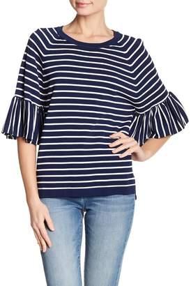Line Lauren Ruffle Sleeve Crew Pullover