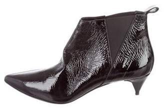Pierre Hardy Twist Patent Leather Ankle Boots Black Twist Patent Leather Ankle Boots