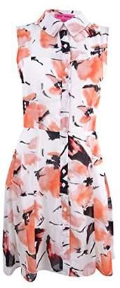 Betsey Johnson Women's Chiffon Shirt Dress