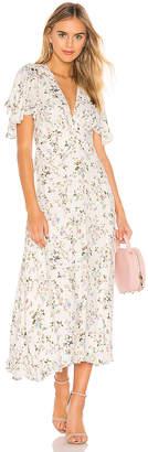 Divine Heritage Flutter Midi Dress