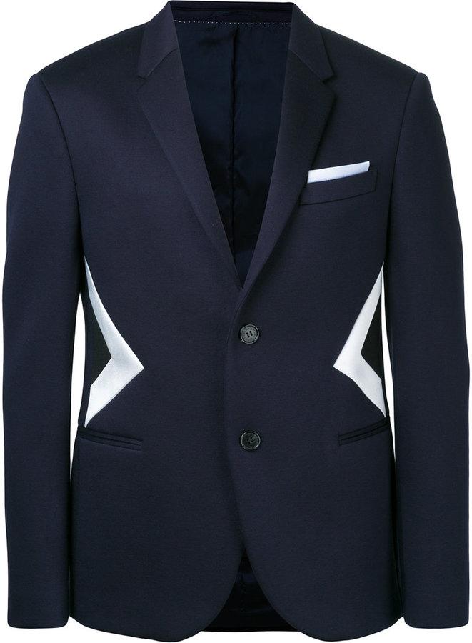Neil Barrett optical illusion jacket