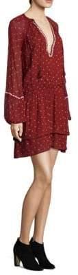 Paige Shanti Printed Blouson Dress
