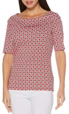 Rafaella Geometric-Print Cotton Top