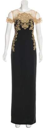Marchesa Embroidered Evening Dress w/ Tags