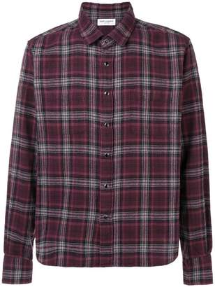 Saint Laurent classic check shirt