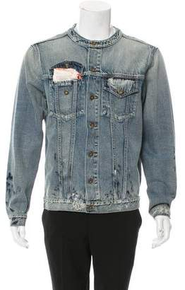 Ih Nom Uh Nit Distressed Denim Jacket w/ Tags