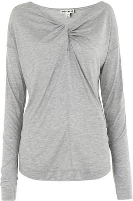 Whistles Twist Front Keyhole Tee