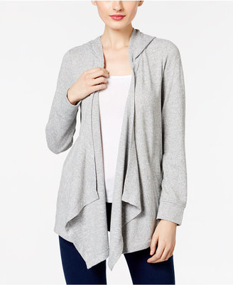 INC International Concepts Hooded Open-Front Cardigan, Only at Macy's $59.50 thestylecure.com
