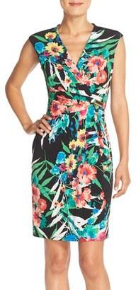 Women's Ellen Tracy Floral Print Jersey Sheath Dress $108 thestylecure.com