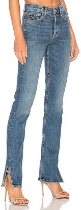 GRLFRND Natalia High-Rise Skinny Split Jean.