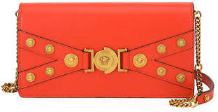 Versace Tribute Small Leather Crossbody Bag