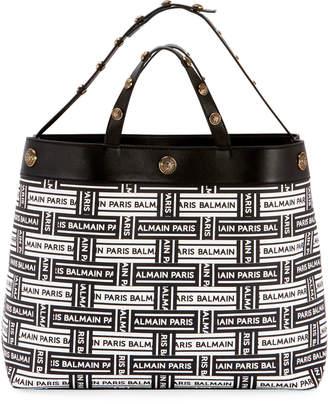Balmain Logo Shopping Tote Bag